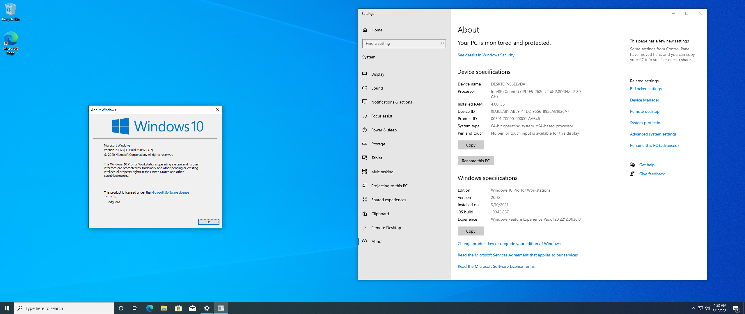Windows 10 Version 20H2 with Update [19042.867] AIO 64in2 (x86-x64) by adguard (v21.03.10)