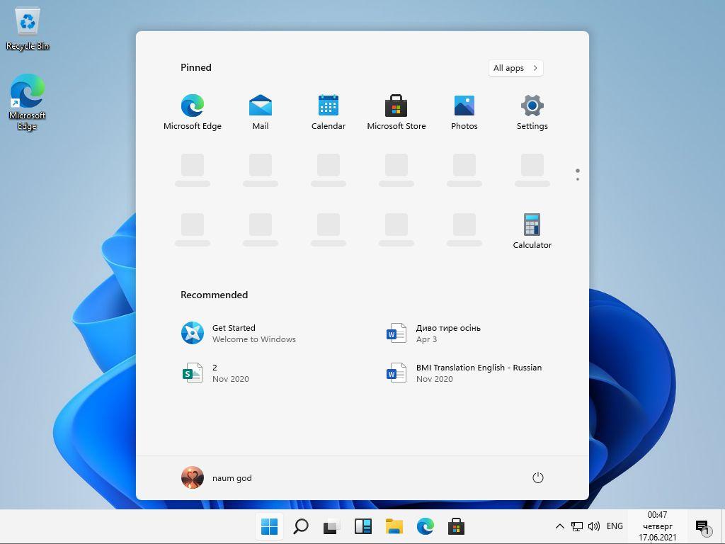 Windows 11 Dev OS x64 Build 21996.1.210529-1541