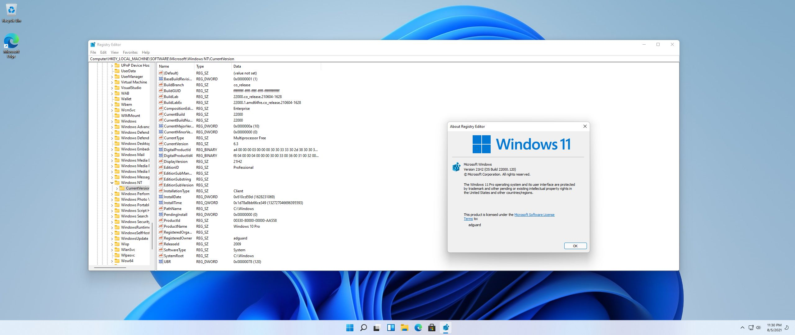 Windows 11 DEV Version 21H2 (10.0.22000.120) with Update AIO (x64) by adguard [Multi38]