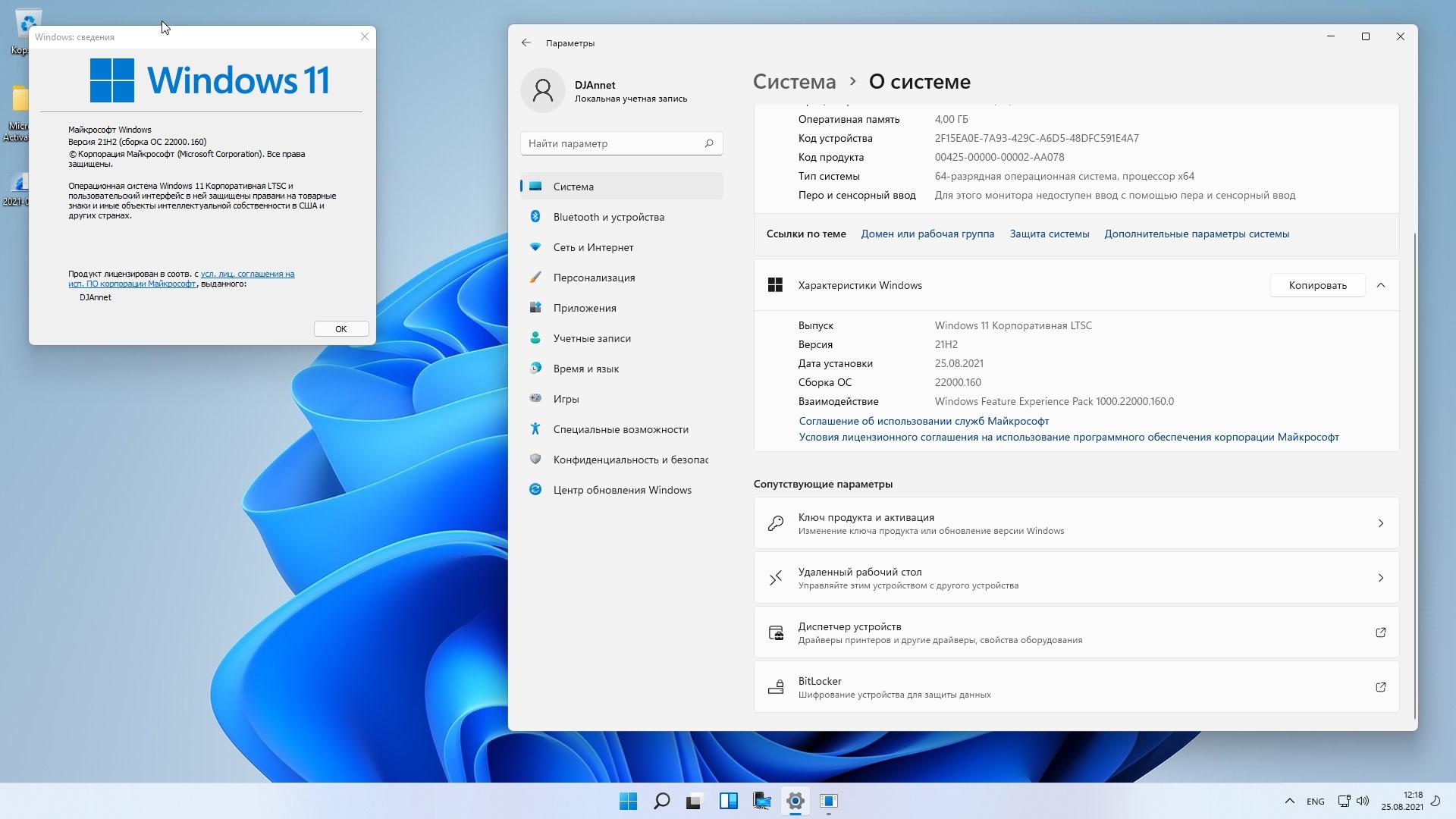 Windows 11 IP LTSC 22000.160 2in1 by DJAnnet (64bit)