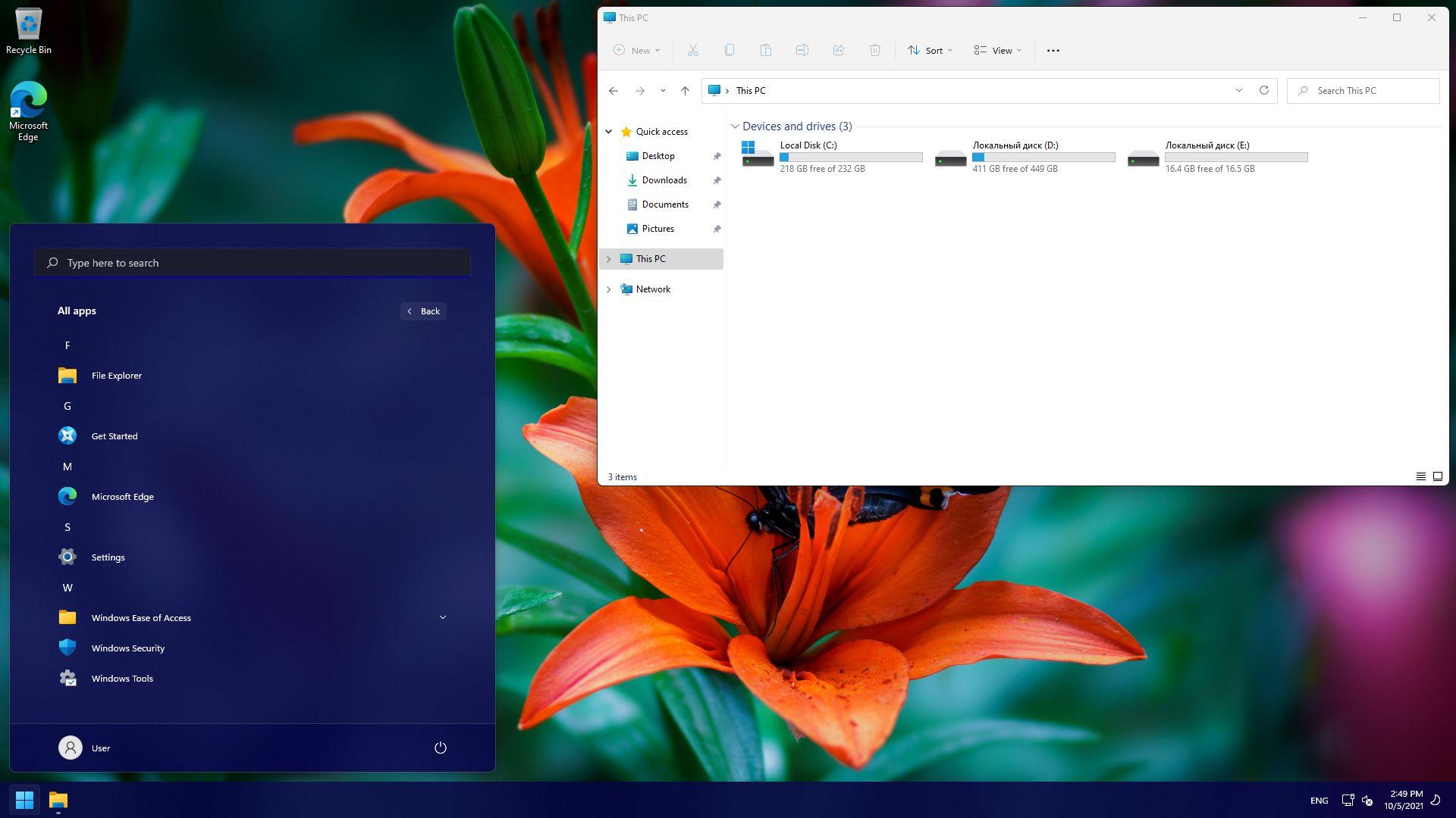 Windows 11 PRO RU EN [GX 05.10.21] 64bit